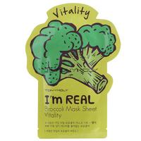 Тканевая маска для оздоровления кожи с экстрактом брокколи Tony Moly I'm Real Broccoli Mask Sheet