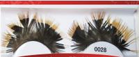 Фантазийные перьевые накладные ресницы 0028 + клей
