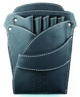 Чехол-кобура для ножниц (кожа) 4 ножниц и аксессуаров K-11
