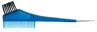 Comair Кисточка для краски прозрачная синяя с расческой и крючком
