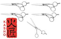 Набор парикмахерских ножниц Kasho Excelia (5 пар)