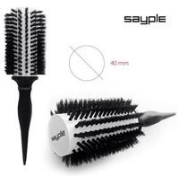 SAYPLE Natural Hair Brush Брашенг керамический c натуральной щетиной (40мм.)